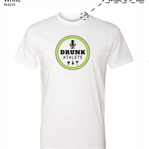 drunk athlete white t shirt